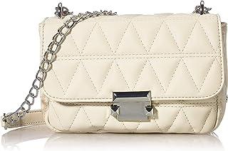 Gabor Damen Katja Flap Bag, Off White, S no Zip