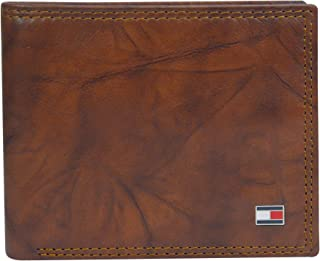 Tommy Hilfiger Men's Huck Leather Traveler Passcase Bifold Wallet