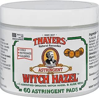 Thayers Witch Hazel Pads W/Aloe 60 Pads