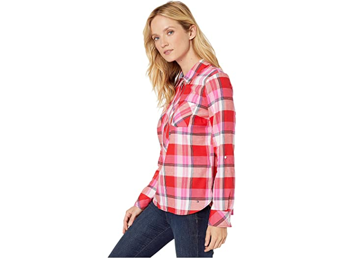 Tommy Hilfiger Popover - Sorbet Plaid Women Clothing