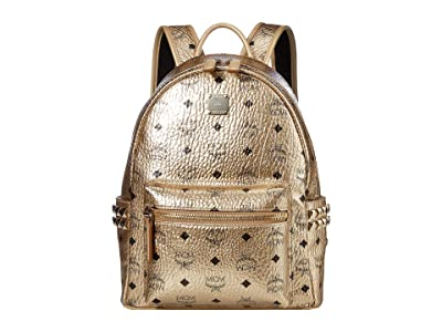 MCM Stark Backpack Small (New Champagne Gold) Backpack Bags