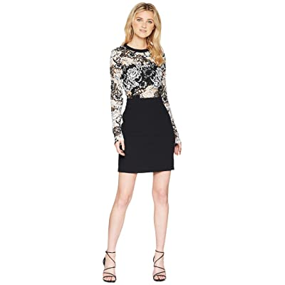 ROMEO & JULIET COUTURE Two-Toned Lace Dress (Black) Women