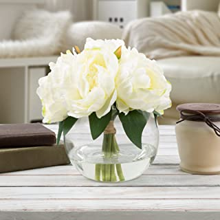 Pure Garden 50-199 Silk Floral Arrangement, Cream
