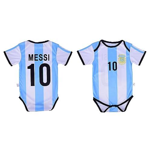 0cad4d9847f Leo Messi  10 Argentina Soccer Jersey Baby Infant   Toddler Onesie Romper  Premium Quality