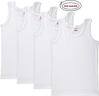 fd134b19cf0ee Brix Toddler Boys Girls Tank Top Undershirts White Tagless Super Soft 4 –  Pack.