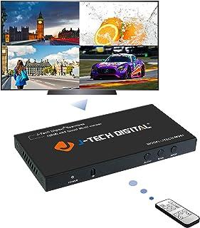 (4X1 Seamless Multi-Viewer) - J-Tech Digital HDMI 4x1 1080P Quad Multi-Viewer Seamless Switcher with 5 Different Display M...