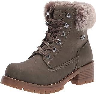 Lugz Women's Flirt Hi Fur Classic 6-inch Chukka Fashion Boot, Woodland/Mire/Gum, 6.5, M