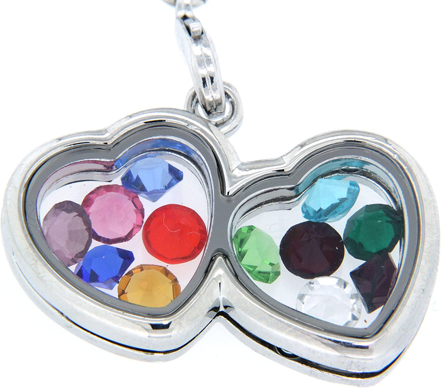 Clearly Charming Floating Charm Locket Necklace