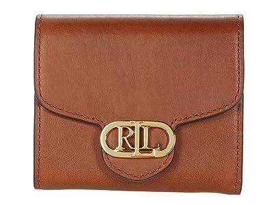 LAUREN Ralph Lauren Leather Logo Compact Wallet (Lauren Tan) Handbags