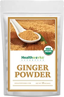Healthworks Ginger Powder (16 Ounces / 1 Pound) | Ground | Raw | All-Natural & Certified Organic | Keto, Vegan | Great wit...