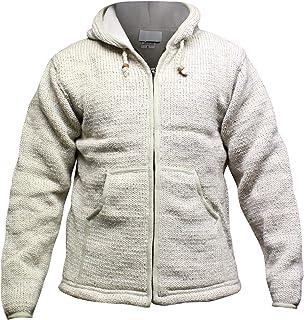 Shopoholc Fashion Plain Colors Fleece Lined Knitted Woolen Hooded Jacket/Jumper