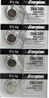 4 Pcs Energizer 394-380TS BUTTON CELL BATTERIES 394 OX
