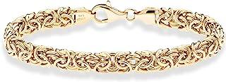 18K Gold Over Sterling Silver Italian Byzantine Bracelet...