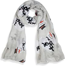 V28 Candy Cane Print Women's Scarf Christmas Gift Lightweight