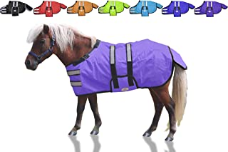 Derby Originals 600D Reflective Safety Winter Foal & Mini Horse Blanket with Warranty - Mediumweight Ripstop Waterproof Nylon Turnout Blanket