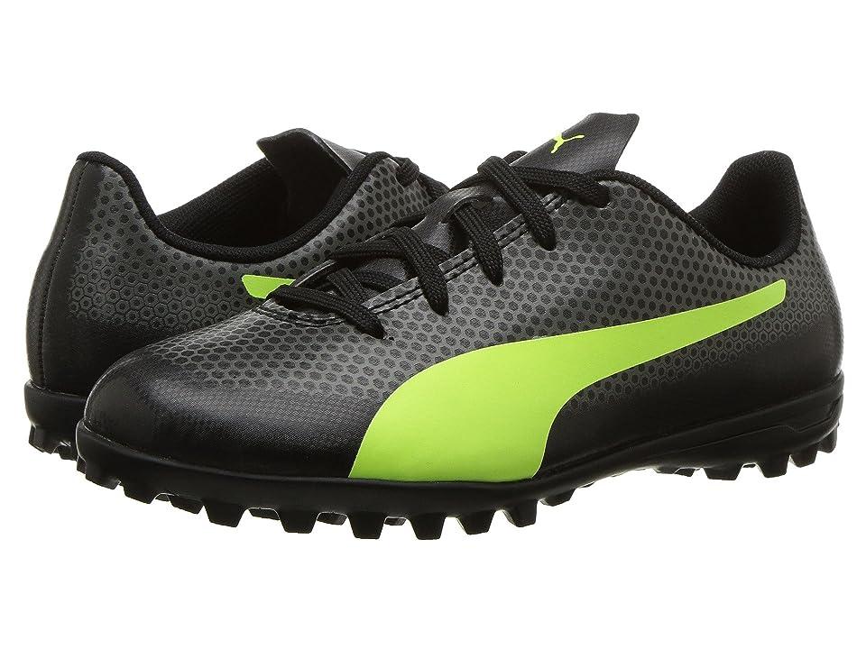 Puma Kids Spirit TT Soccer (Little Kid/Big Kid) (Puma Black/Fizzy Yellow/Castor Grey) Kids Shoes