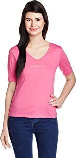 United Colors of Benetton Women's Banded Collar T-Shirt