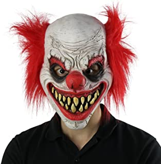 Rob Zombie Halloween Clown Mask.Amazon Com Scary Creepy Masks Men Clothing Shoes