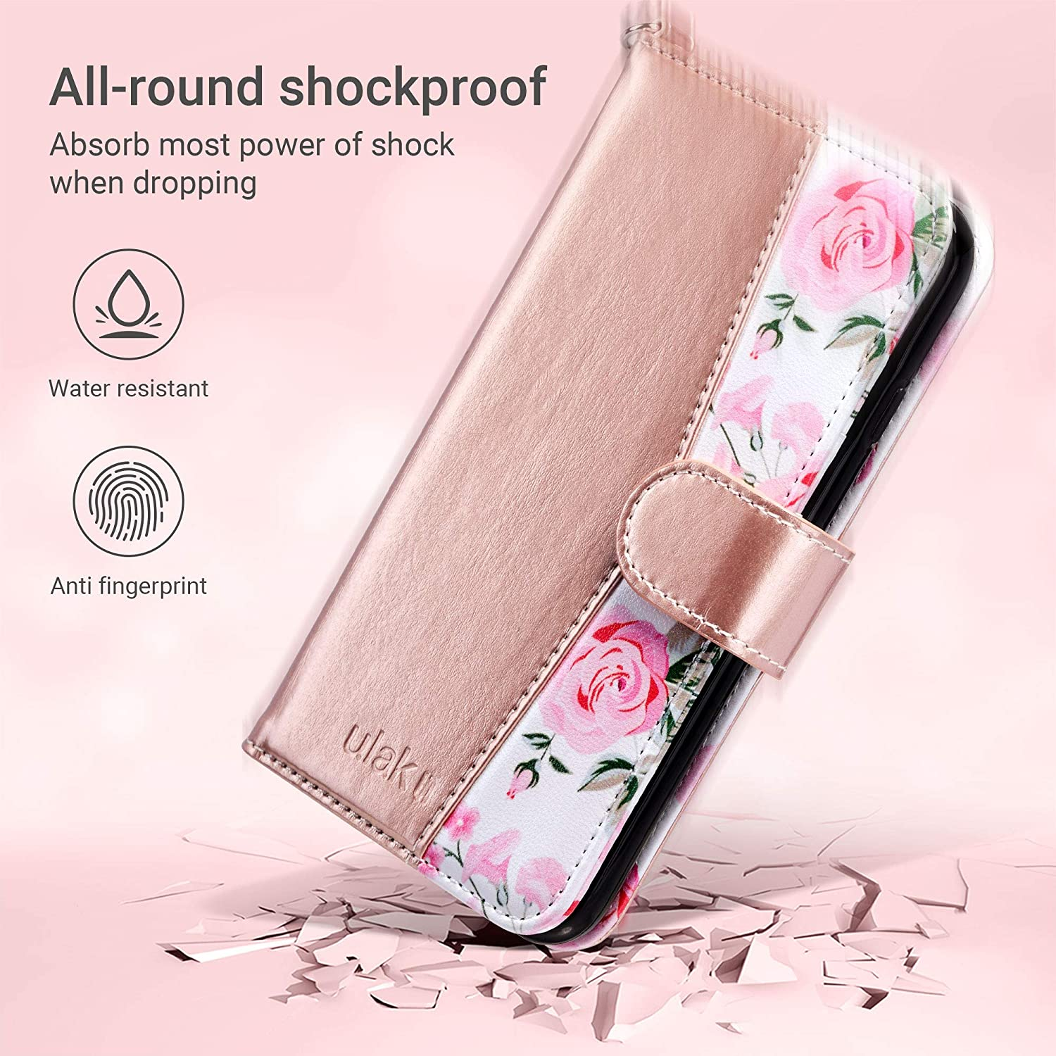 iPhone 6 Wallet Flip PU Leather iPhone 6S Wallet Case with Card Holder Kickstand Designed Wrist Strap Shockproof Protective Cover for iPhone 6//6s 4.7inch,Mandala ULAK iPhone 6s Wallet Case