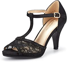 Amazon.com: Black Lace Heels