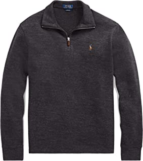 8a49ba02565e Polo Ralph Lauren Mens Half Zip French Rib Cotton Sweater (XX-Large