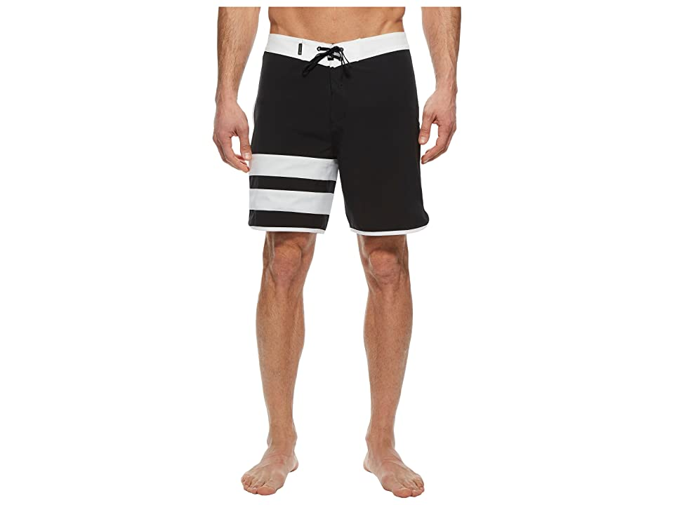 Hurley Phantom Block Party Solid 18 Boardshorts (Black) Men