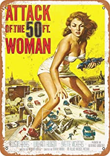 Mariner 1958 Attack The 50 Foot Woman Movie Aluminum Funny Aluminum Funny Art Decor Movie Poster Vintage Tin Sign Dorm Game Room 12 X 8 in