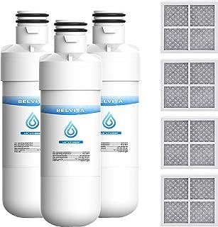 BELVITA MDJ64844601 for LG Refrigerator Water Filter Replacement Compatible with LG LT1000P, LT1000PC, LT1000PCS, MDJ64844601, Air Filter Replacement for LG LT120F Air Filter, ADQ73214402, ADQ73214404