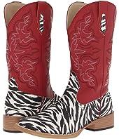 Roper - Zebra Glitter Boot Square Toe