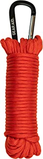 GEAR AID 550 Paracord and Carabiner, 7 Strand Utility Cord for Camping and Survival