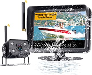 Yakry Y34 HD 1080P Wireless Rear View Camera with 7 Inch Monitor for RVs,Forklifts,Trucks,Crane,Harvester,Boat High-Speed ...