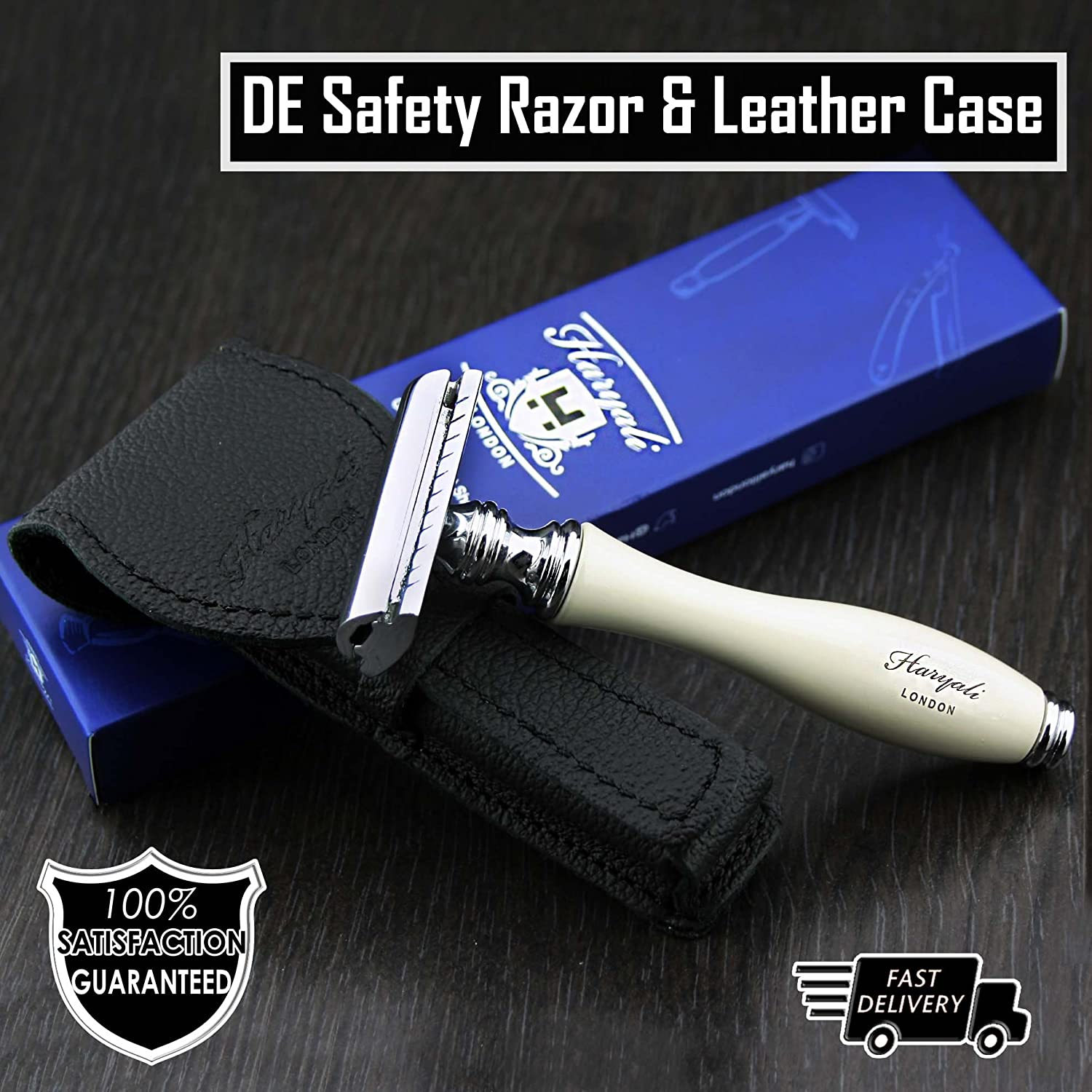 Men's Shaving Classic DE Safety Razor Ivory Chicago Mall in specialty shop Colour Genuine