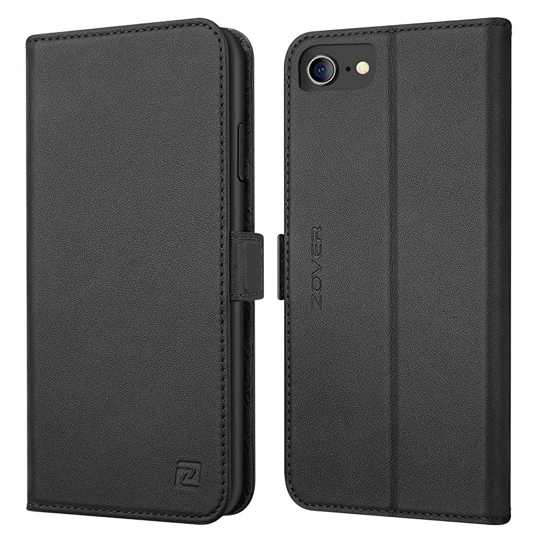 想像するセマフォゆりiPhone8 / 7 / 6 / 6s 手帳型 サイドマグネット式 本革 RFIDブロッキング カバー 全面保護 スタンド機能 カード収納 耐汚れ 耐衝撃 ギフトボックス アイフォン8 / 7 / 6 / 6s 兼用(4.7インチ用 ブラック)Black