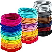 200 Pack No-metal Hair Elastics Hair Ties Ponytail Holders Hair Bands Bulk (2 mm, Multicolor)