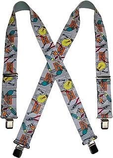 CTM® Men's Elastic Clip-End 2 Inch Tradesman Work Suspenders, Electrician