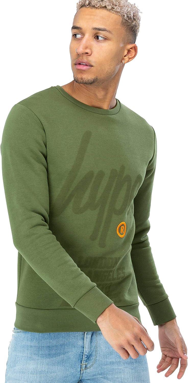 Hype Herren-Sweatshirt Mit Rundhalsausschnitt Registerot Script