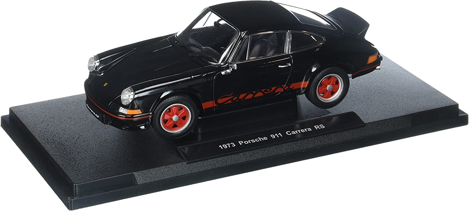 Welly Collection 1 18 1973 Porsche 911 Carrera Rs Diecast Vehicles, Black