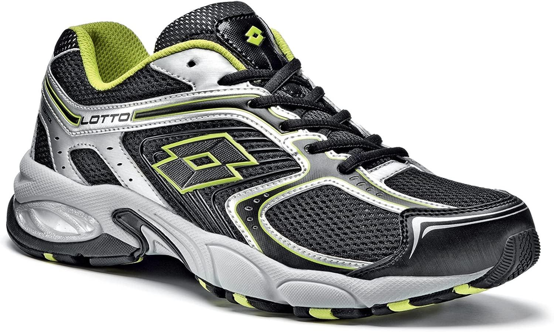 Lotto Madrid IV Sportschuhe Sportschuhe - Running, Herren, schwarz Lime Silber  Designer online