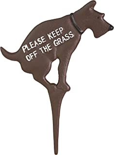 Keep Dog Off The Grass Yard Sign No Pooping Large 8.5
