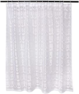 DII Oceanique Elegant, Modern Diamond Lace Design, Water & Wrinkle Resistant, 100% Polyester, Machine Washable Shower Curt...