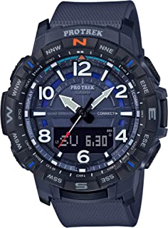 Casio Men's Pro Trek Bluetooth Connected Quartz Sport Watch with Resin Strap, 22.2