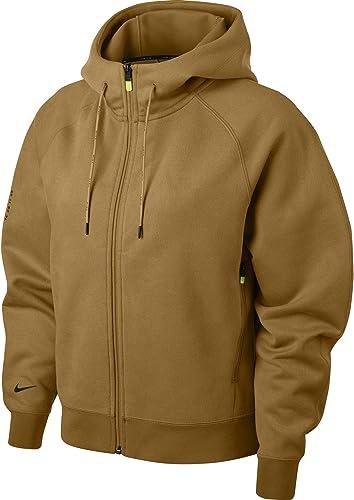 Nike W NSW TCH Pck Fz FLC Sweat à Capuche Femme, Oil gris Noir, FR (Taille Fabricant   XL)