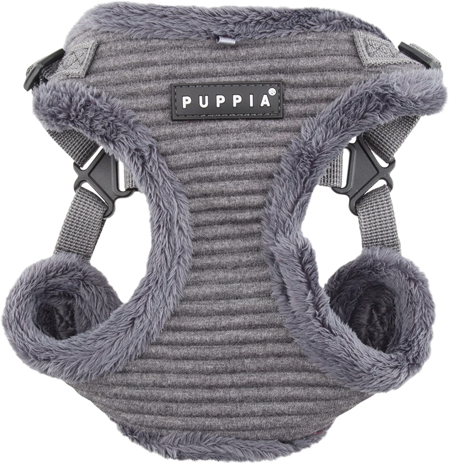Puppia Troy HarnessC for Pets, Mélange Grey, Small