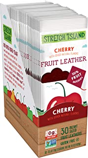 Stretch Island Cherry Original Fruit Leather Snacks – Vegan | Gluten Free | Non-GMO | No Sugar Added - 0.5 Oz Strips (30 Count)