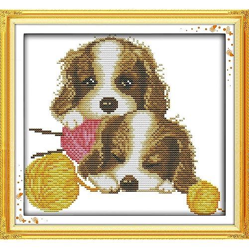 Top Dog Little Dog Cross Stitch Kit