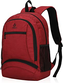 Veegul Kid's School Backpack Classic Casual Backpack (Red)