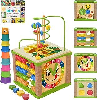 TOYVENTIVE Wooden Kids Baby Activity Cube - Girls Gift...