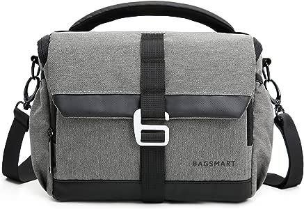 BAGSMART Compact Camera Bag  Camera Shoulder Bag Anti-Shock with Water...