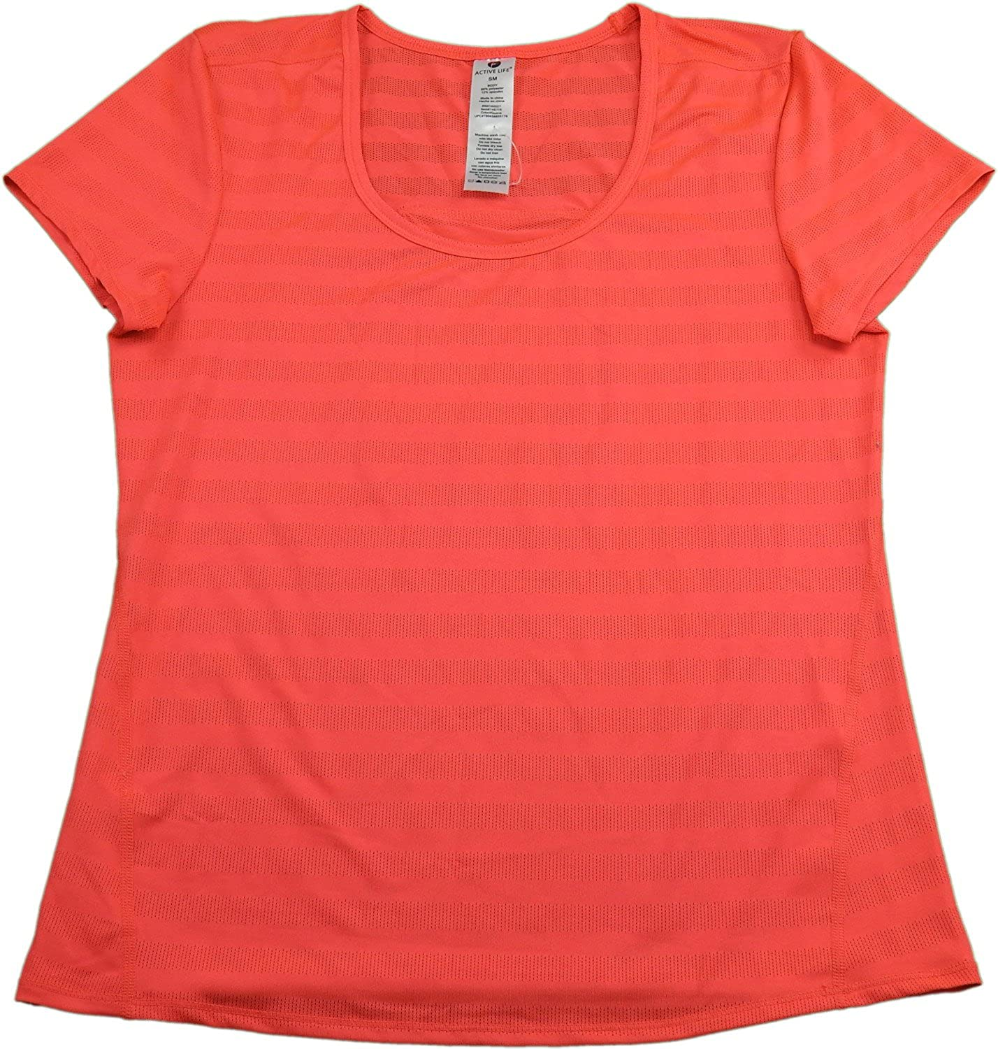 Active Life Ladies Size Small Performance Moisture Wicking Shirt, Guave