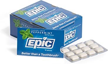 Epic 100% Xylitol-Sweetened Chewing Gum (Peppermint, 144-Count Boxes)